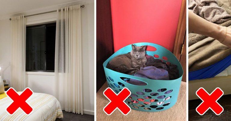 14 dolog, aminek egy hálószobában sem szabadna ott lennie