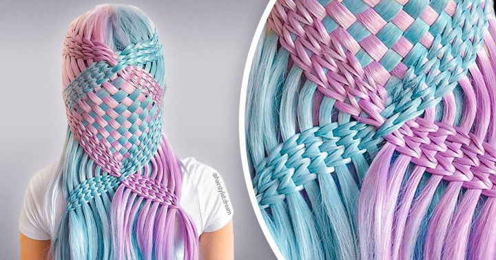 Egy német tinédzser hipnotizáló frizurákat készít, melyek úgy néznek ki, mint a horgolt minták
