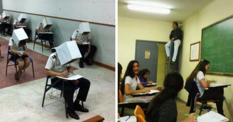 14 vicces alkalom, amikor a vizsgákon a puskázás ellen tett intézkedések rendkívül látványosra sikeredtek