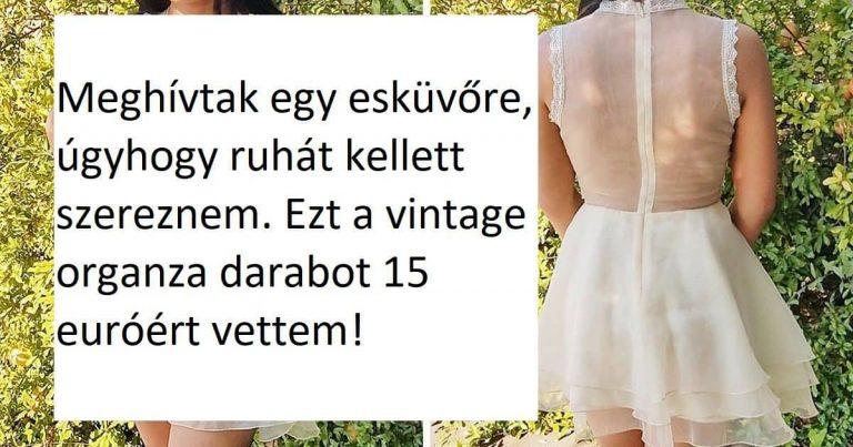 18 ember, aki szinte a semmiért vette ruháját, de mégis úgy tűnik, hogy egy vagyont költött arra