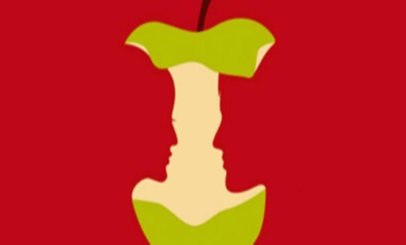 Az almát, a szerelmes párt, a nőt, vagy a férfit veszed észre először a képen? Ilyen most az életed!