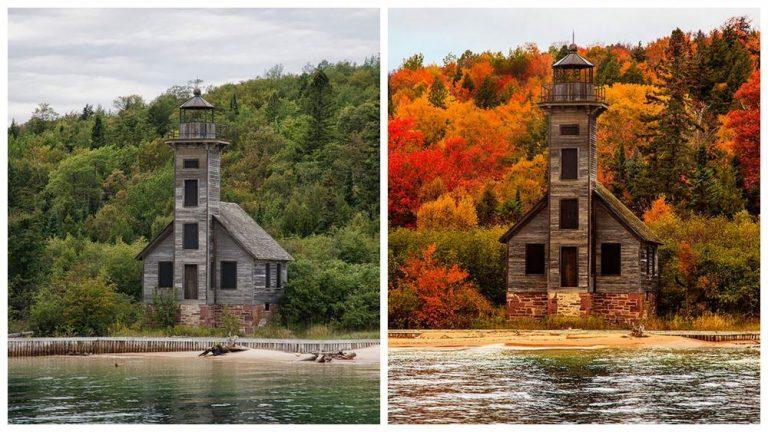 12 szemkápráztató előtte-utána fotó a tavasz és az ősz kontrasztjáról