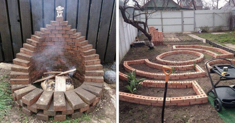 20 nagyszerű ötlet, hogy mihez kezdjünk az udvarunkban a bontott téglákkal