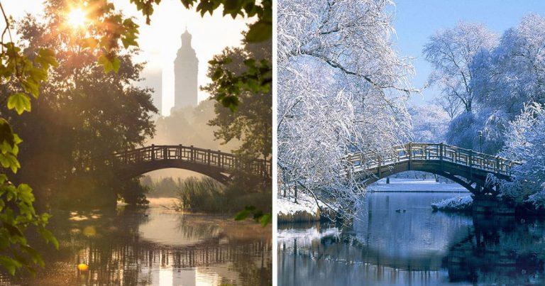 30 lebilincselő előtte-utána fotó a nyár és a tél kontrasztjáról