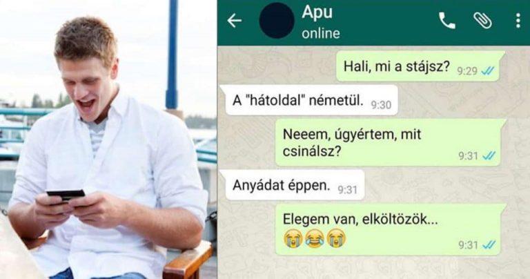 Vicces SMS-ek apák és fiaik között, amit nem lehet kibírni nevetés nélkül